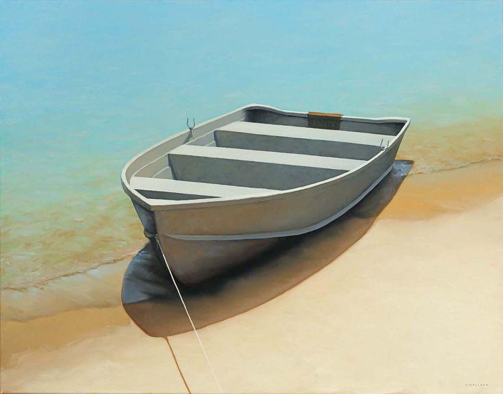Jim Holland (1955 - Present), American Artist - Rowboat Shaddow - 28 x 28