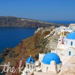 Santorini    Eat seafood: Dine in open-air taverns and restaurants next to the spectacular caldera. Local specialties such as octopus in onion sauce and mussels with rice and raisins will keep you coming back night after night.