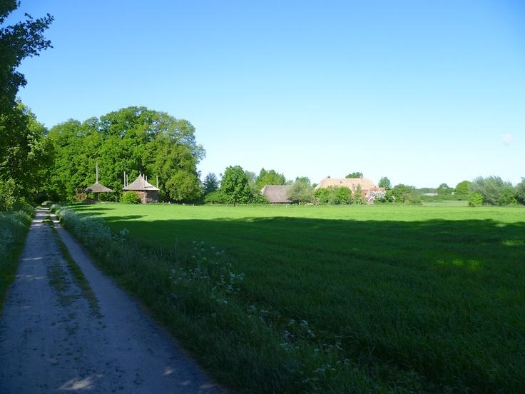 2013-06-02 Zicht op oude boerderij naast het landgoed