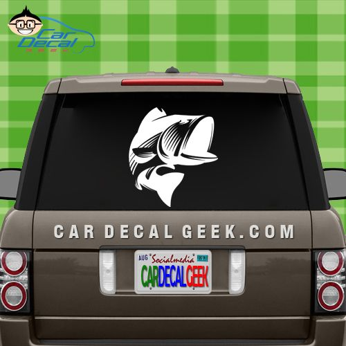 Large mouth bass car decal