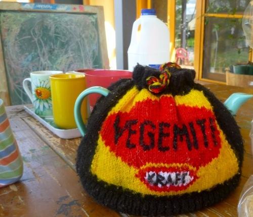 LOVE this vegimite tea cosy