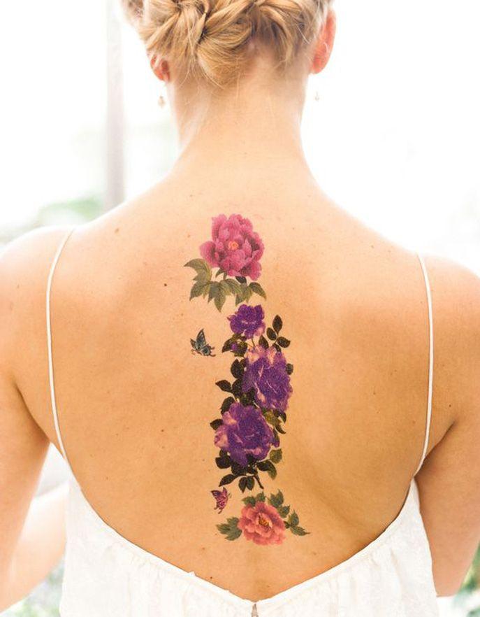Les 25 meilleures id es de la cat gorie tatouages sur la colonne vert brale sur pinterest - Tatouage femme colonne vertebrale ...