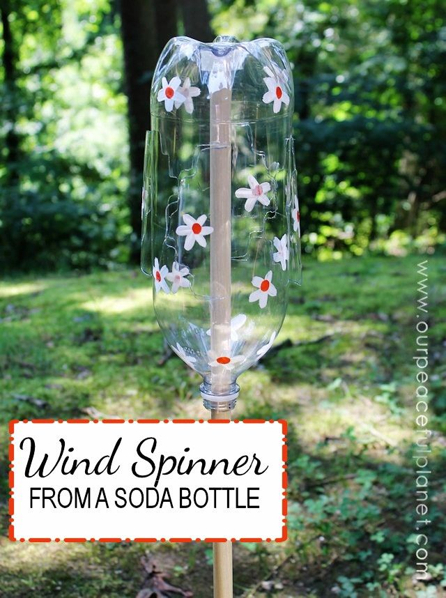 Best 25 wind spinners ideas on pinterest kinetic wind for What can we make out of plastic bottles