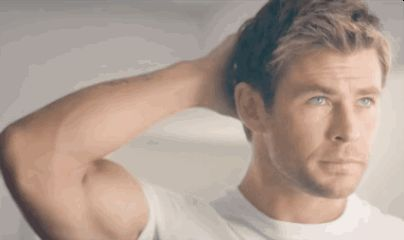 When just the sight of his bicep made your heart start pounding. | 32 Times Chris Hemsworth Made You Pregnant Without Even Touching You