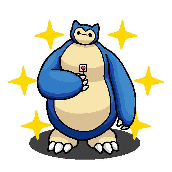 Shiny Snorlax + Baymax (Big Hero 6) by shawarmachine.deviantart.com on @DeviantArt