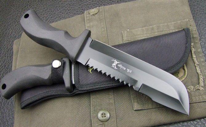 Black Dog ELK Survival Hunting Knife, Canada Knives and Swords