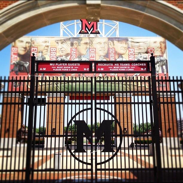 "@ddpduncan's photo: ""#miamiuniversity #upaa football field"""