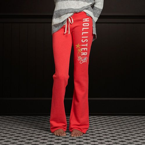 Hollister Boot Sweatpants: need these for the flight to India!
