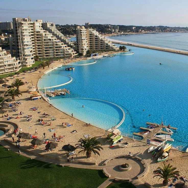 Biggest Swimming Pool in the World in San Alfonso Del Mar, Chile