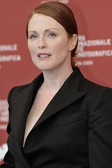 """Julianne Moore (born Julie Anne Smith; December 3, 1960 [in Fort Bragg, North Carolina]) is a British-American actress and a children's book author. She has been nominated for four Oscars, six Golden Globes, three BAFTAs and nine Screen Actors Guild Awards."""