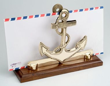 Splendid Anchor Letter Holders, Beach Themed Gifts, & Nautical Desk Accessories, Low price guarantee, and free shipping for orders over $99.