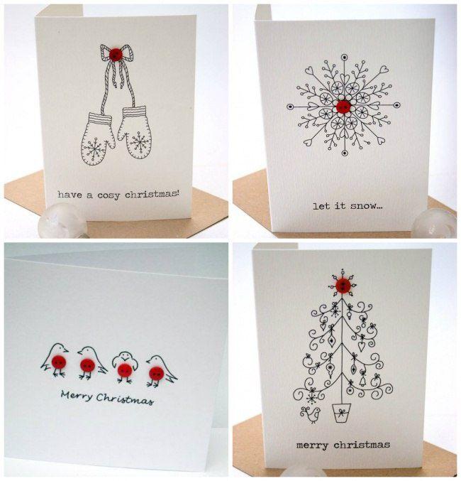 Новогодние открытки рисуем своими руками, тебе прикольные