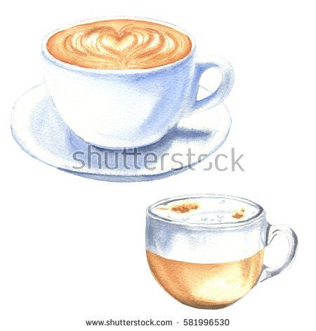 Image result for latte leaf watercolor | Watercolor