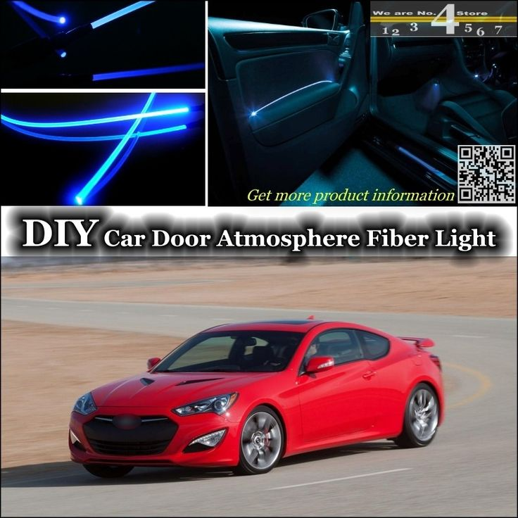 For Hyundai Genesis Coupe Interior Ambient Light Tuning Atmosphere Fiber Optic Band Lights Inside Door Panel Illuminati Ambient Lighting Panel Doors Toyota Mr2