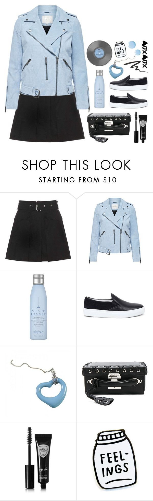 """outfit of the day"" by deepwinter ❤ liked on Polyvore featuring Acne Studios, Drybar, Amb Ambassadors of minimalism, Tiffany & Co., Mark Cross, Eyeko, Anna Sui and Topshop"