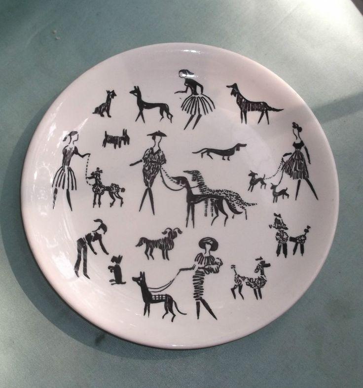 Side Plate - Alfred Meakin - Dog Walkers