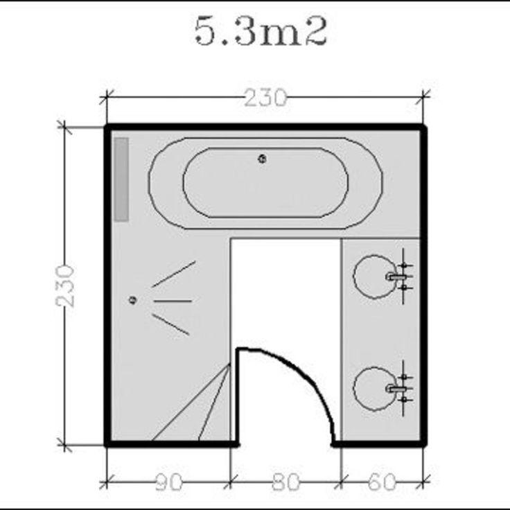 1000 id es sur le th me salle de bain 6m2 sur pinterest am nagement salle d - Plan salle de bain 6m2 ...