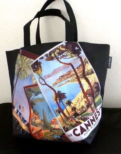 $12.99  LANCOME RIVIERA COLLECTION CANNES COTE D'AZUR GREEN LINED TOTE BAG NWOT