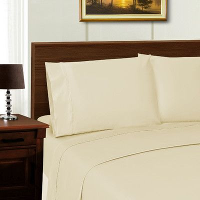 Simple Luxury Superior 1000 Thread Count Sheet Set Color: Ivory, Size: California King