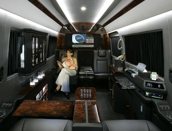 Sprinter van interiors becker automotive design 39 s for Luxury mercedes benz sprinter