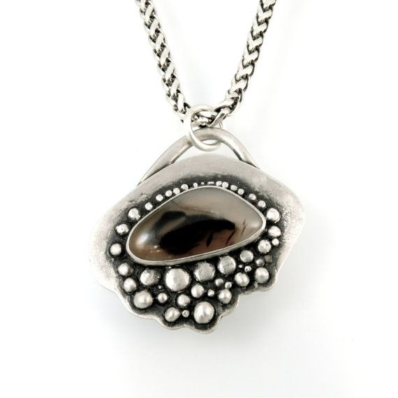 Montana Agate Necklace by Kris Kramer Designs
