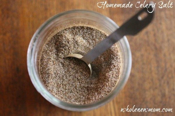 Homemade Celery Salt (and how to use it ~ including a yummy surpise!)