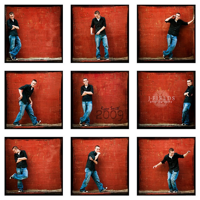 Love the collage and the fun poses. Great for a guy, they never know what to do and always feel uneasy.