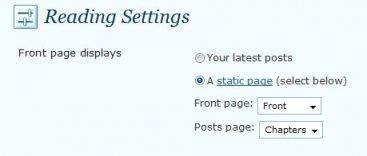 Använd WordPress.com för att skriva en bok. Här är instruktioner för hur du ställer in din WordPress.com-blogg så att den blir en bok med kapitel. (språk: Engelska)