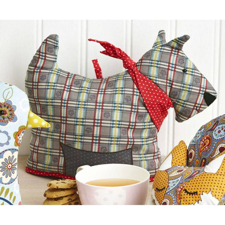 scottie dog shaped tea cosy by ulster weavers   notonthehighstreet.com