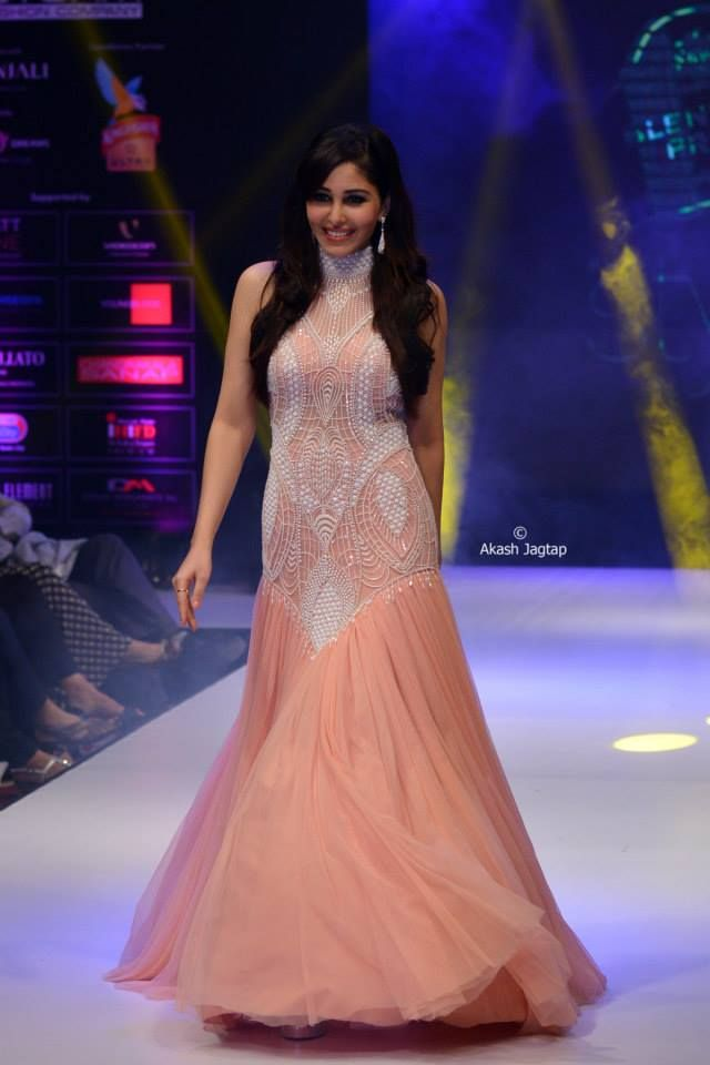 AD SINGH Couture gown on bollywood actress and miss india Pooja chopra.