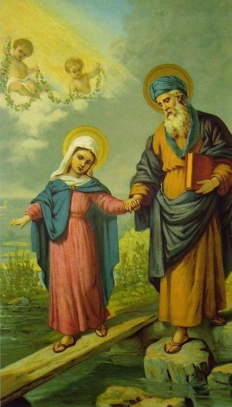São Joaquim e a Virgem Maria.