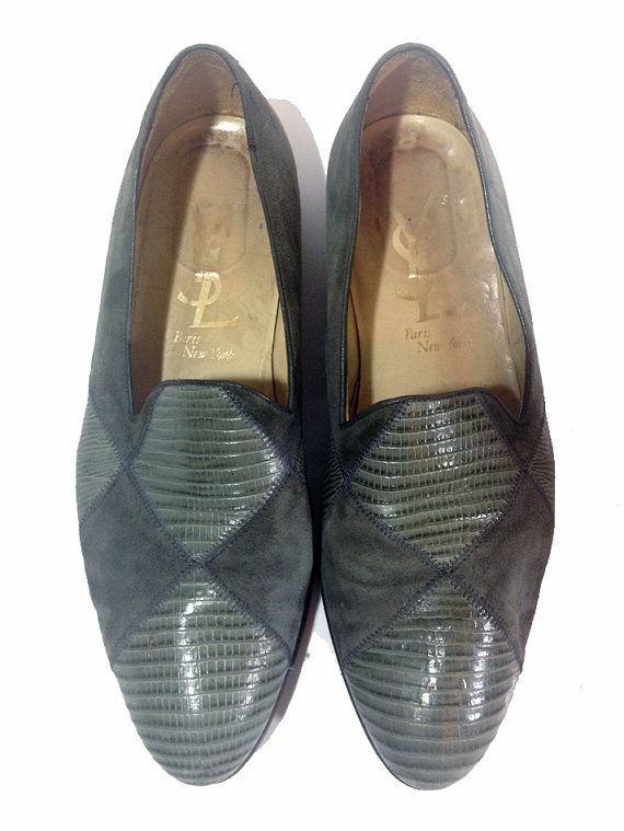 Vintage Authentic YSL Men\u0026#39;s Leather/Suede Loafers - Yves Saint ...