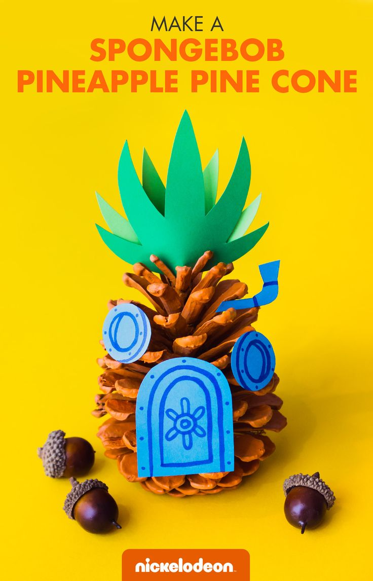 Kids can keep busy with this perfect, pineapple-y autumn craft.  Autumn has crept up on us, causing a chill throughout Bikini Bottom's waters. But, SpongeBob and Patrick aren't complaining. They usually keep themselves busy–unintentionally ruining Squidward's day seems to be their favorite indoor activity! Parents, you don't have to feel Squidward's pain. Keep your kid from treading in the deep waters of boredom with this easy craft.