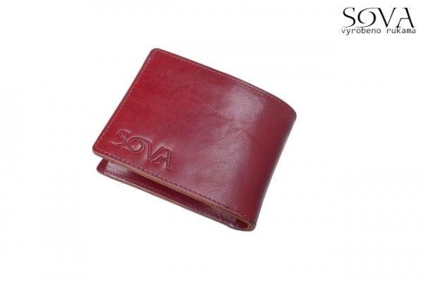 Pánská peněženka kožená TRE, Vino - Kliknutím zobrazíte detail obrázku.