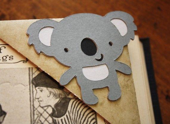Koala origami corner bookmark