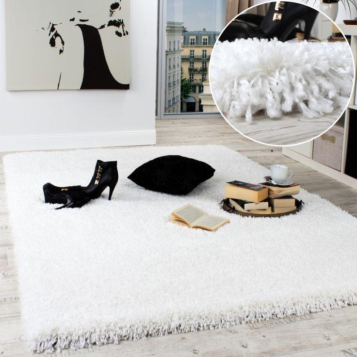 Teppich design weiss  Die besten 25+ Shaggy teppich Ideen auf Pinterest | Teppich ...