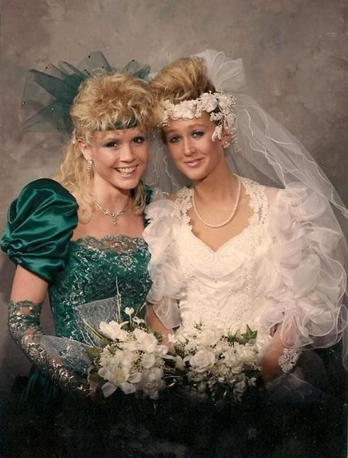 This is ALL 80's Weddings fashion