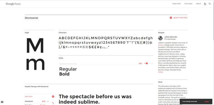 https://fonts.google.com/specimen/Montserrat