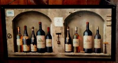 Wine Kitchen Wall Decor Plaque Tuscany Italian French Bistro Brown Arches Big | eBay