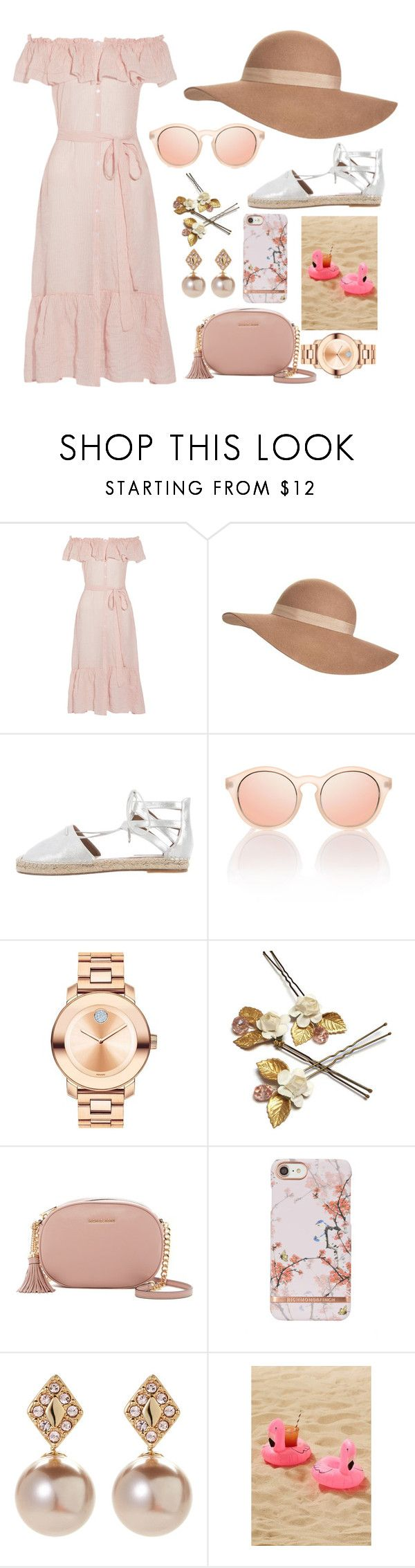 """""""Summer at the beach"""" by maria-c-simon ❤ liked on Polyvore featuring Lisa Marie Fernandez, Jack Wills, Aquazzura, Le Specs, Movado, MICHAEL Michael Kors, Ivanka Trump and Urban Outfitters"""