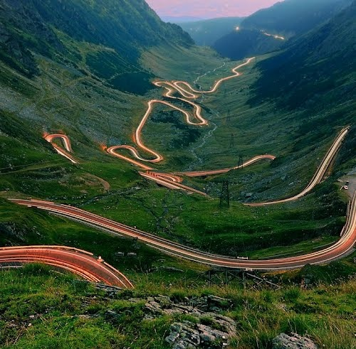 Winding mountain road in Romania/moldovan vian photo