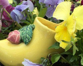 Vintage flower planter McCoy dutch shoe