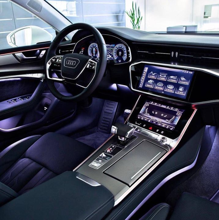 2019 Audi A8: Audi A8 Interior! 😍🔥 #luxury #shit #gold #toilet