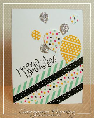 Stampin' Everything!: Sassy Salutations Washi Tape Balloon Birthday Card