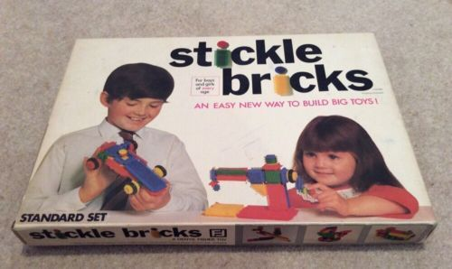 Stickle Bricks - Vintage 1970's Set 1970ish Original Early boxset Toy Very Good