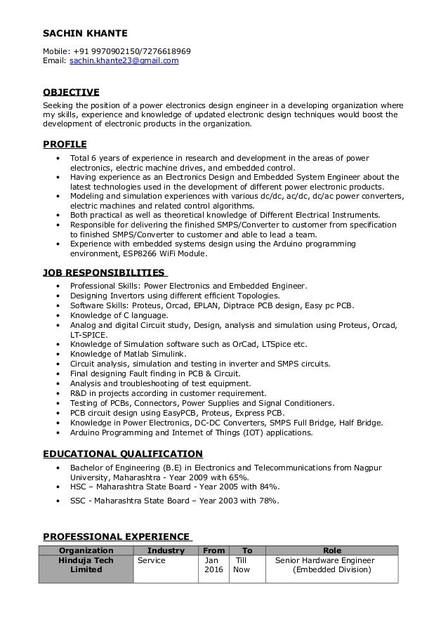 Rf Engineer Resume Sample. Best 25+ Career Objectives For Resume