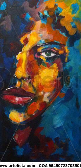Gi Gioia Arte-Perfil - mujer he elegido esta obra por representar la belleza desordenada que se pide y porque me lamo la atención por sus colores vivos.