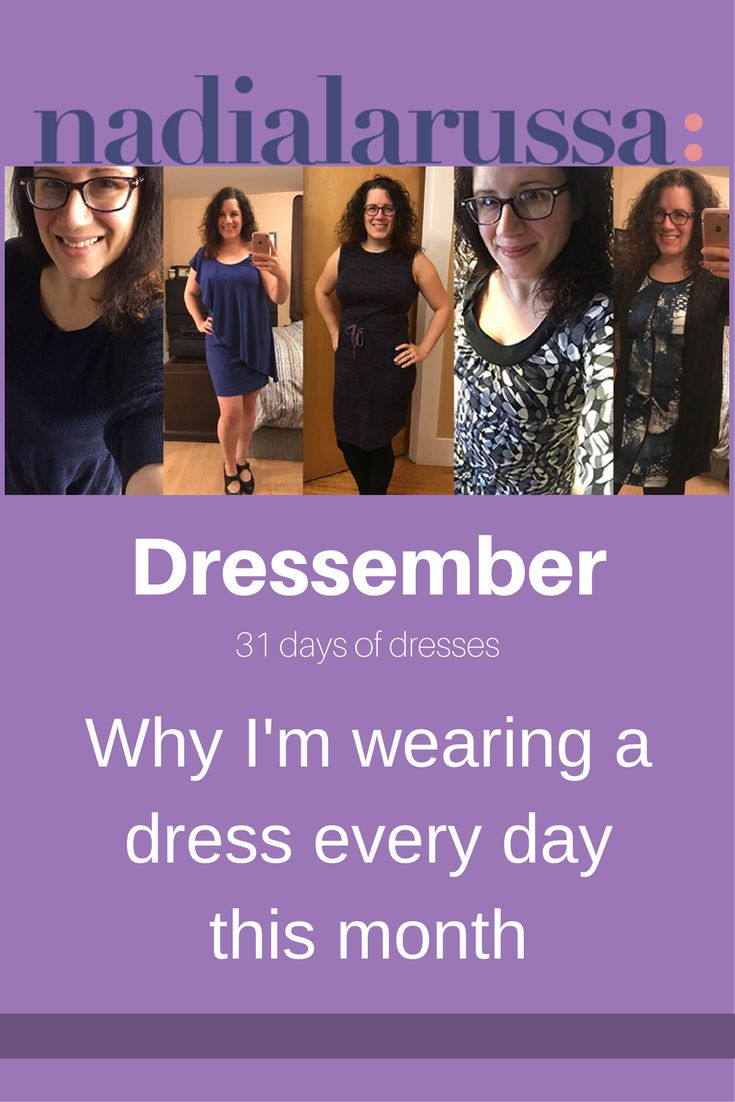 Check out my blog post explaining why I'm wearing a dress every day this month! // Dressember // http://nadialarussa.com/dressember/