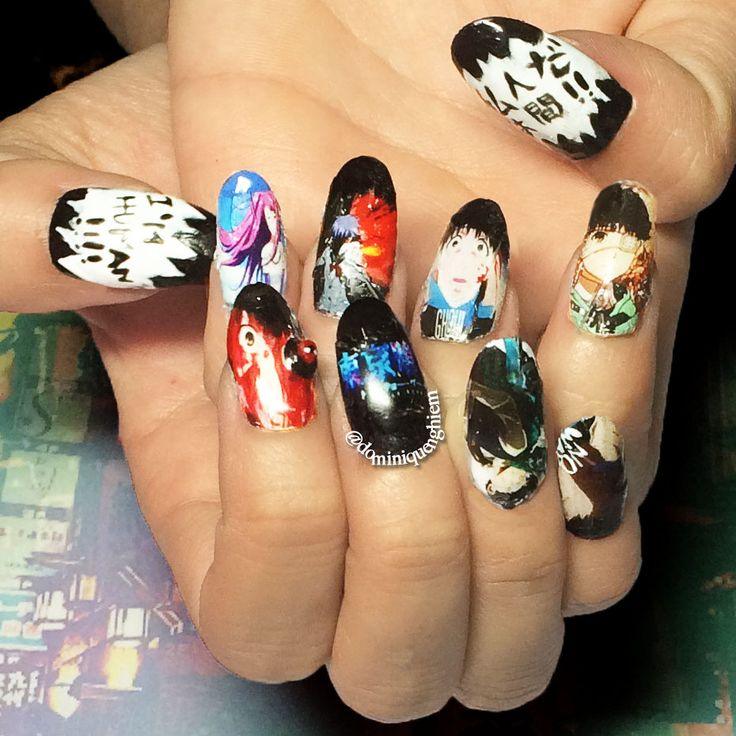 68 Best Anime Nails! :3 Images On Pinterest