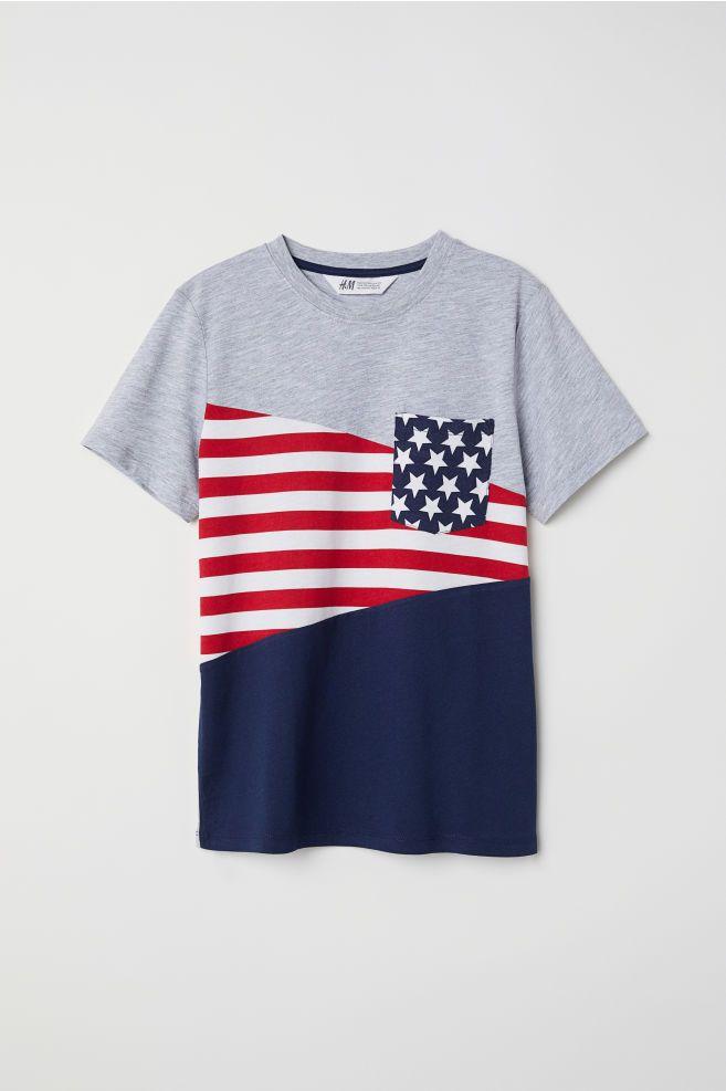 b103431c6 Camiseta en bloques de color - Gris Bloques de color - NIÑOS